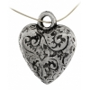 Metalized Bead with ss.coating 18mm Heart Antique Silver